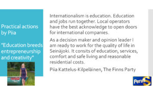 The centre of internationalisation is education